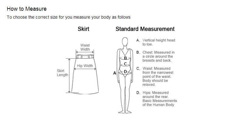 skirt mesuring
