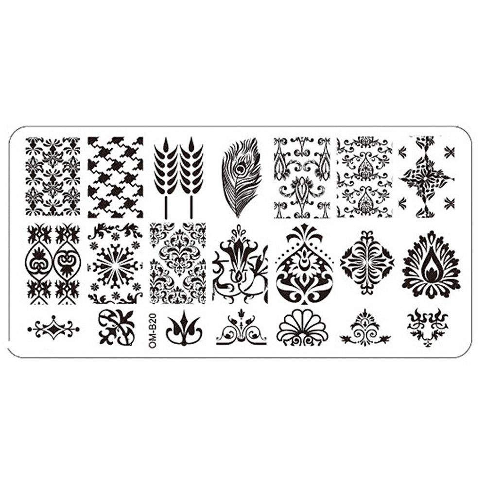 Nail Art Image Stamping Plates Manicure Stamp Template DIY Template Tool