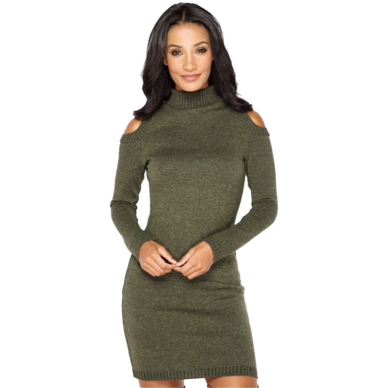 Autumn Sexy Night Club Office Dress Women Off Shoulder Knitted Sweater Dresses Winter Warm 2018 Long Sleeve Mini Party Vestidos