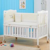 Baby Bed Multi functional Game With a roller shaker Child Bed Pine Wood Crib Free Delivery