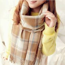 New Women Winter Scarfs 2015 Brand Fashion Lady Plaid Checked Scarf font b Tartan b font