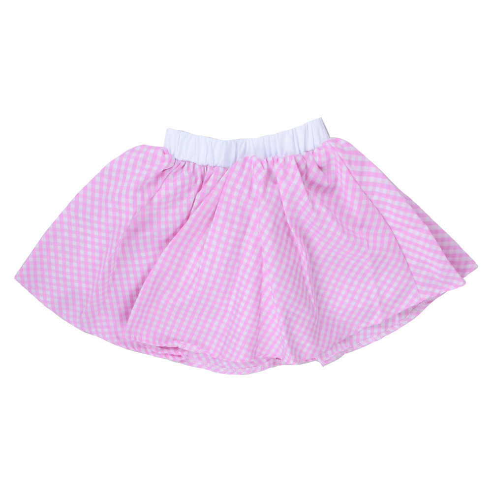 eb3732cdd ... Kids Gingham Skirt 1950s Costume Vintage Rock n Rock Plaid Circle Skirt  Little Sweet Baby Retro