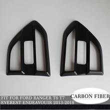 side vent cover 2pc carbon fiber ABS plastic car accessories Air Flow Vent Fender Trim for ford everest endeavour 13- ranger 12-