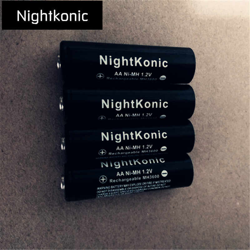 8 PCS LOT aa battery NightKonic 1 2V NI MH AA Rechargeable Battery BLACK in Replacement Batteries from Consumer Electronics