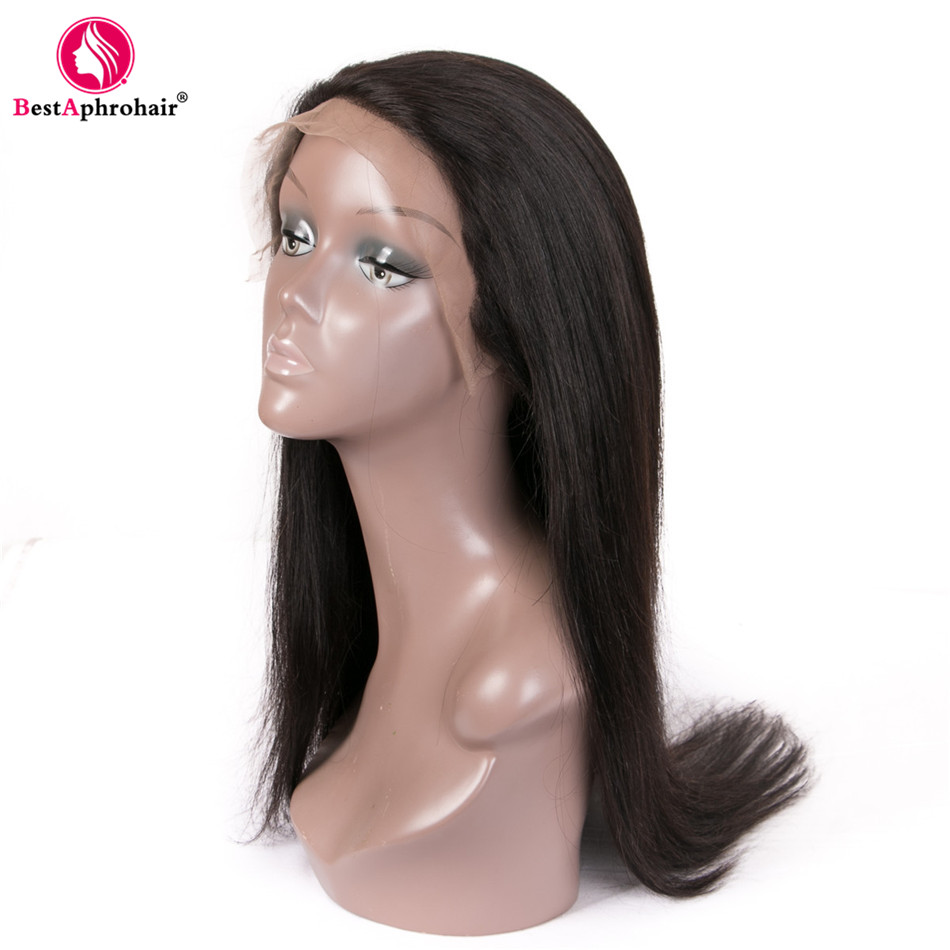 Aphro Malaysian Straight Hair Pre Plucked 360 Lace Frontal Wig 150% Density Lace Front Wigs Remy Human Hair Wig For Women Black