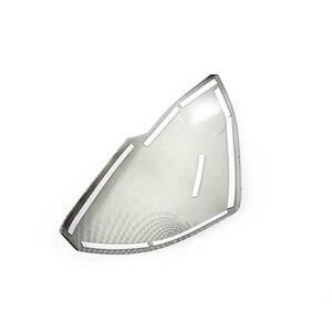 Image 3 - 1 คู่รถด้านข้างกระจกฝาครอบ Fit Trim Fit สำหรับ HR V VEZEL กระจกมองหลังคาร์บอนไฟเบอร์รูปแบบพลาสติก ABS