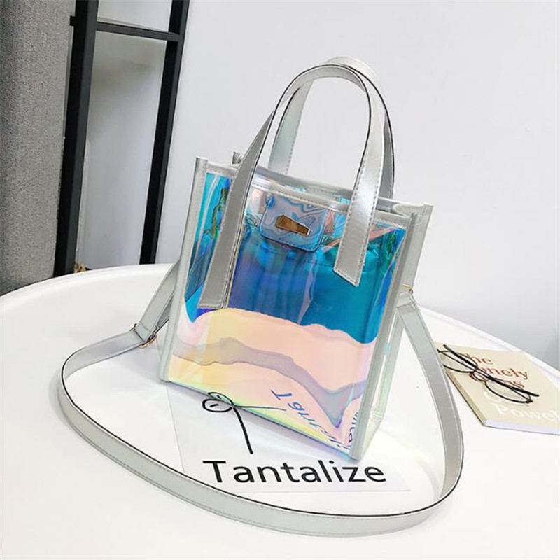 2018-new-brand-women-'s-handbags-laser-korean-style-bags-transparent-shoulder-bags-jelly-candy-strap-clear-women-bag
