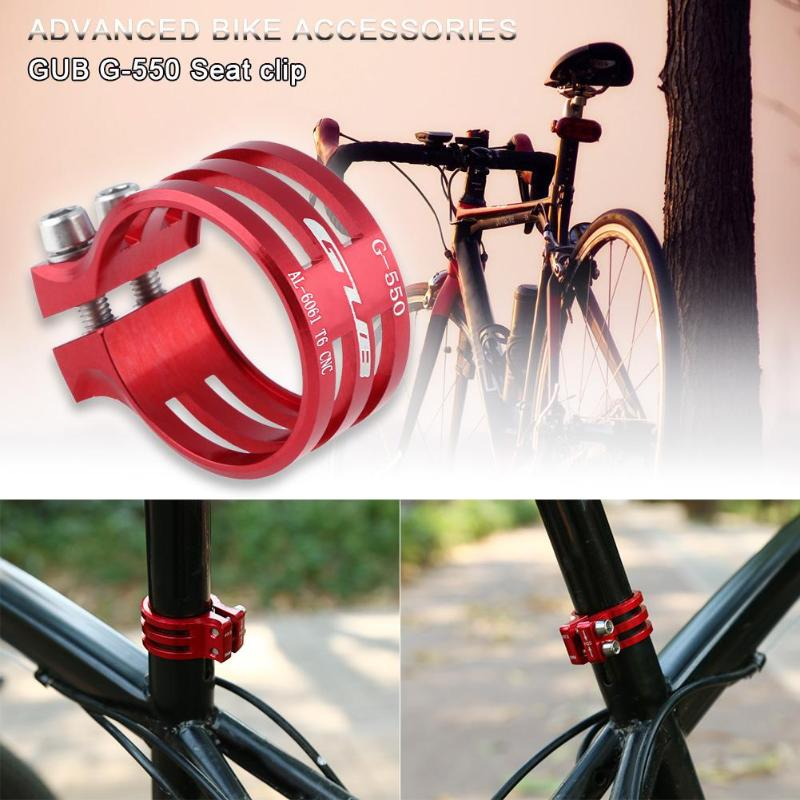 Bicycle Seat Post Clamp Aluminum Mountain Bike Seatpost Lockable Clamps Cycling Clamping Carbon Frame 31.8mm