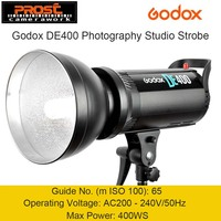 Godox DE400 400W 400WS Pro Photography Studio Strobe Flash Light Lamp Head 220V