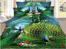 3D Butterfly Peacock print bedding set quilt duvet cover bedspread sheet bed in a bag linen queen size full double beautiful