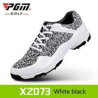 2018 yeni PGM Golf Ayakkabı Erkek Deri anti-patinaj nefes oluk patent tasarım sneakers freeshipping