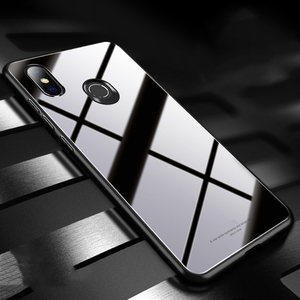 Image 5 - Para Xiaomi Redmi S2 funda de lujo a prueba de golpes híbrido duro funda de vidrio templado para Xiomi Xiaomi Redmi Y2 S 2 fundas de teléfono