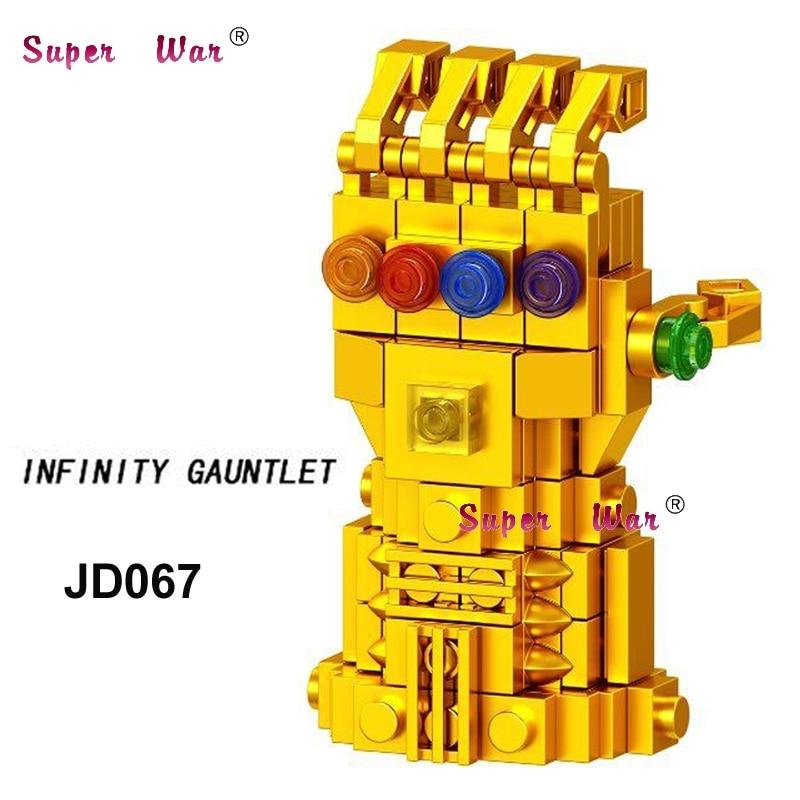 Single Marvel Avengers 3 Infinity War Thanos Infinity Gauntlet Super Heroes  Figures Model building blocks toys for children