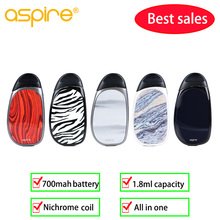 Vape Vaporizer kit Aspire cobble kit buitl-in 700mAh battery & 1.8ml cartridge  Electronic Cigarette Vape VS Breeze 2/nautilus in stock aspire nautilus aio kit newest aspire pod system kit with 1000mah battery 4 5ml capacity pod vape kit vs breeze 2 kit