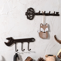 Metal Coat Rack Store Clothes Hook on the Wall Wall Entrance Door Key Personality Decoration
