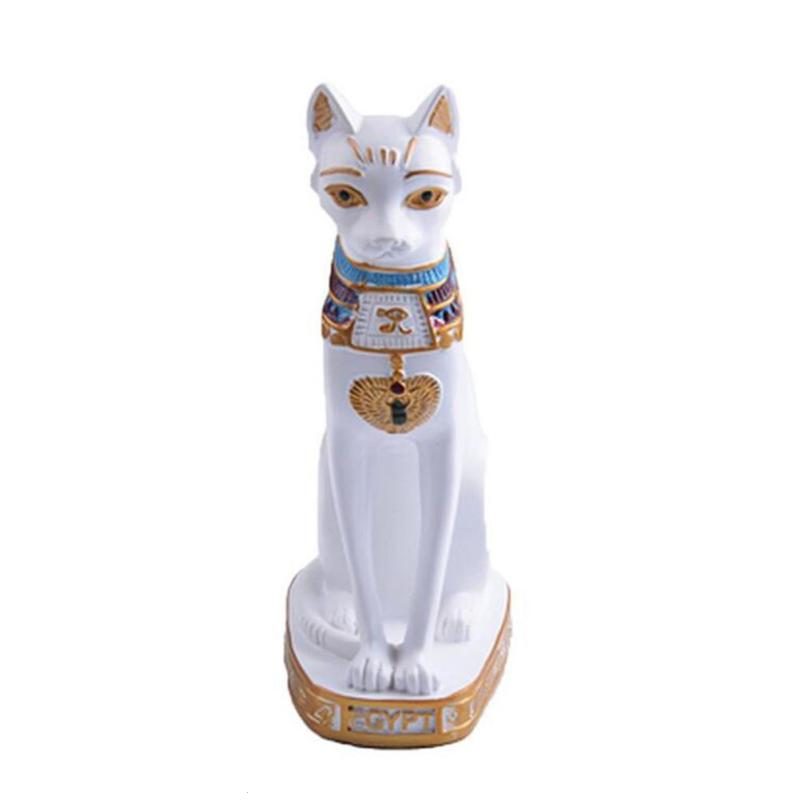 Modern Resin Egyptian Cat God Ornaments Decoration Animals Crafts Office Table Decoration Home Decoration Accessories 35