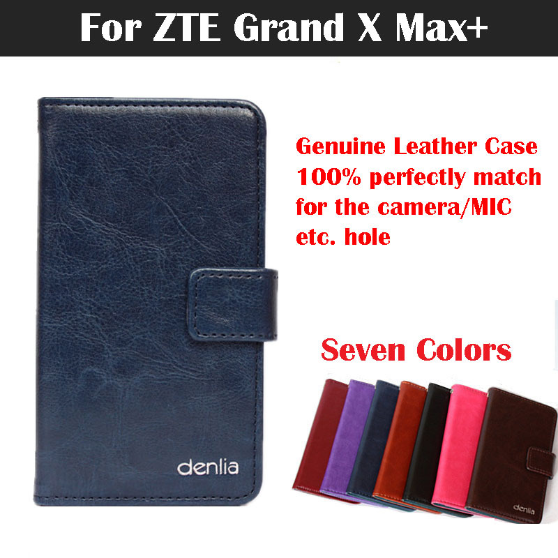 ZTE Grand X Max+ Case,Flip Genuine Leather Phone Case Cover For ZTE Grand X Max+ Real Skin With Card Holder 7 Colors In Stock