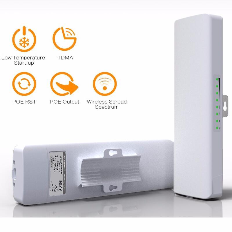 2PCS 5.8G 300Mbps CPE WIFI Signal Booster amplifier Network Bridge 2*14dBi Antenna wi fi access point Nanostatio for IP camera цена и фото