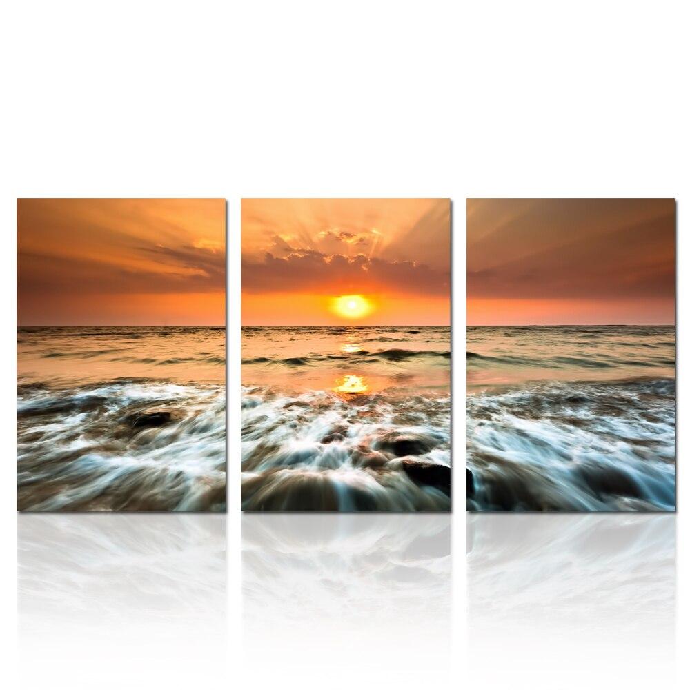 БЕЗКОШТОВНА ДОСТАВКА Sunset Seascape Dropship - Домашній декор