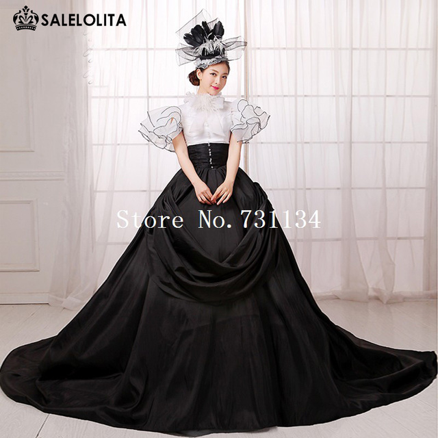 6a782490e063 2016 Hot Seller Black And White Punk Southern Belle Rococo Marie Antoinette  Queen Princess Dress Europe Gothic Ball Gown Vestido