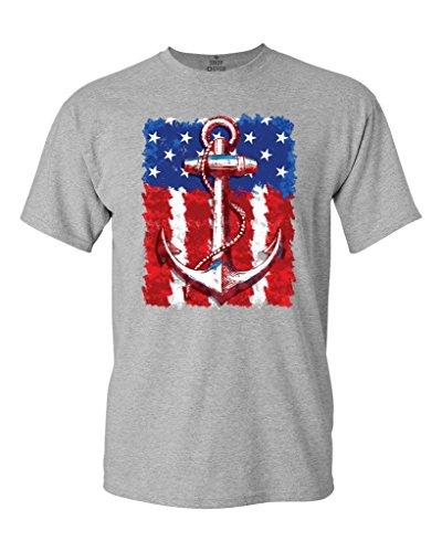 American flag anchor t-shirt 4th of july shirts t shirt men funny tee shirts short sleeve stranger things design t shirt 2017-4