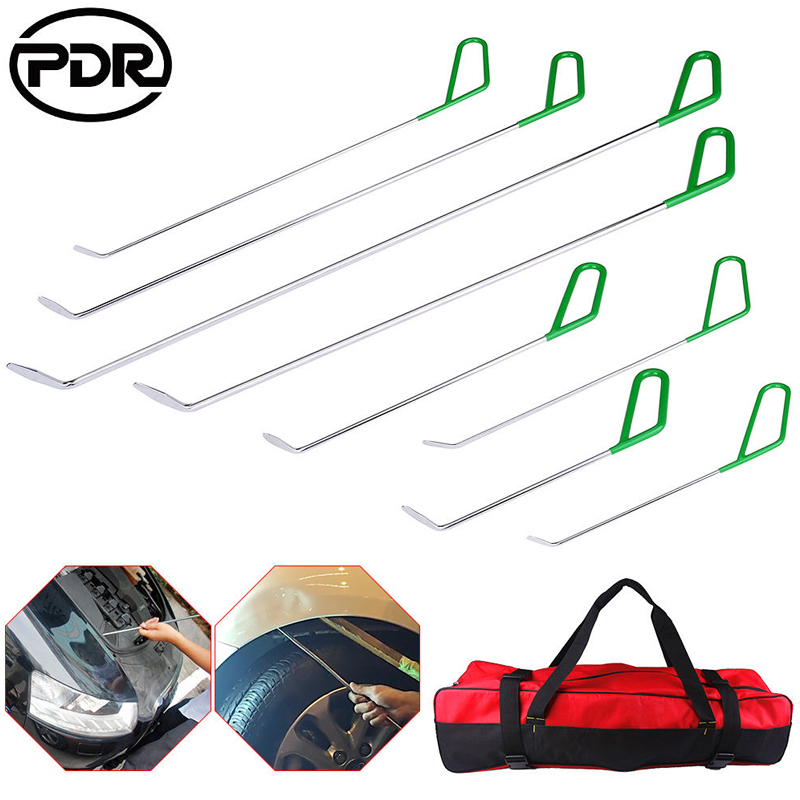 PDR Tools PDR Hooks Push Rods Car Crowbar Paintless Dent Repair Tools Car Dent Removal Hand Tool Sets pdr rods high quality auto parts repair tools set paintless dent repair hand tools pdr hooks car dent removal auto body tools