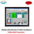 Partaker Elite Z13 15 Inch Taiwan High Temperature 5 Wire Touch Screen Intel Core I7 Touch Panel PC