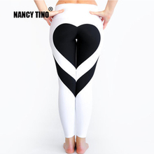 NANCY TINO Women Yoga Pants Splicing Push up Hip High Elastic Fitness Sport Leggings Slim Running Tights Sportswear Trousers