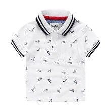 New Boys Stamp Dinosaur Children Short Sleeved POLO Shirt