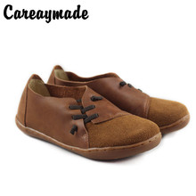 Careaymade-2019 Spring new pure handmade genuine leather soft bottom womens shoes,womens flat casual shoes