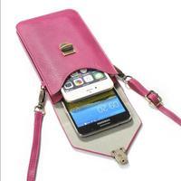 Alça de ombro Carteira telefone Bolsa de Pescoço para Samsung Galaxy s8 s7 Huawei Companheiro 9 Xiaomi Mi6 Max 4X Casos de Telefone Celular Universal bolsa
