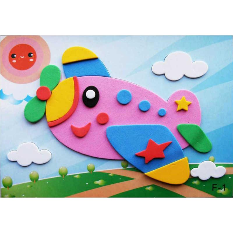1pc 5pcs 10pcs/lot Different Variety 3D EVA Foam Sticker Puzzle Game DIY Cartoon Animal Learning Education Toys For Children
