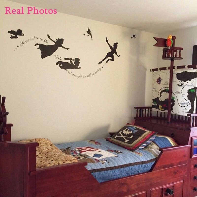Aliexpress.com : Buy Peter Pan Wall Decal Vinyl Stickers Baby Nursery  Bedroom Wall Art Mural Kids Wall Sticker Room Decoration Cartoon Home Decor  From ... Part 19