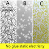 Electrostatic Windows Glass Stickers Toilet Translucent Frosted Glass Foil Bathroom Window Grille Paper Cellophane