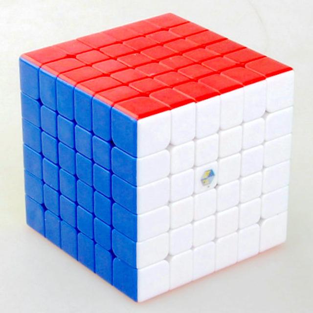 Yuxin Zhisheng Kylin Rojo 66mm 6x6x6 Velocidad Cubo Mágico Puzzle Cubos Juguetes Educativos Para kids Niños Regalo de Cumpleaños