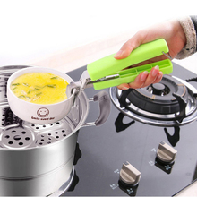 Hot Multifunction Stainless Steel Bowl Clip Universal Handheld Anti Scald Plate Holder Cute Microwave Oven