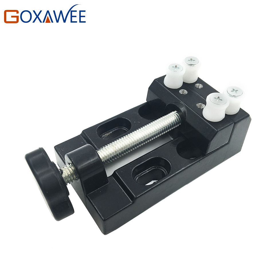 GOXAWEE Watch Bench Mini Table Vise Vice Clamp Non Scratching Repair Tool Case Holder For Dremel Tool Carving Engraving DIY Tool  mini table vice aluminium alloy bench vise universal machine mini fixed repair tool widely used for diy craft clamp vise