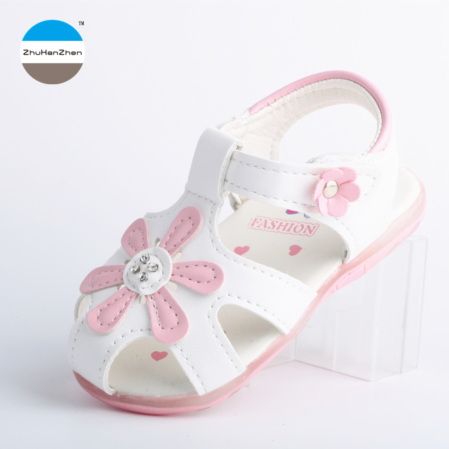 2018 1-3 Years Old Led Lights Flowers Baby Girls Sandals Glowing Bowknot Princess Shoes Summer Breathable Newborn Soft Bottom Sandals & Clogs