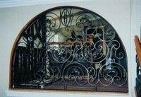 Ferforje çelik cam pencere, metal cam pencere ferforje windowswindow demir pencere ızgara tasarımı hc-w20