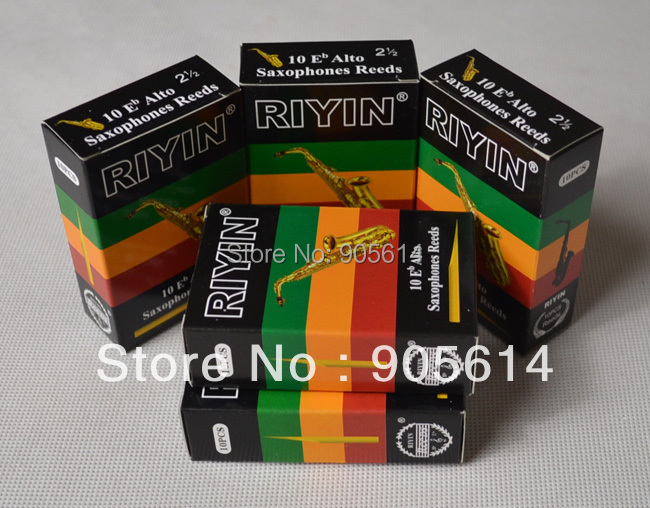 "5 Boxen Altsaxophon Schilfrohr Marke ""RIYIN"" NEUE Stärke # 2.5"
