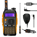 Baofeng GT-3 Mark II VHF/UHF 136-174/400-520 MHz Dual-Band FM Ham Two Way Radio Walkie Talkie + Programming Cable+Remote Speaker