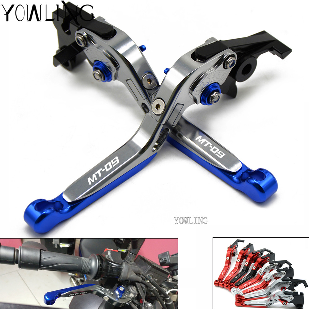 Motorcycle Accessories Folding Extendable Brake Clutch Levers For YAMAHA MT-09 SR MT09 MT 09 MT-09 Tracer FZ-09 FJ-09 2014-2017 for yamaha mt 09 mt 09 tracer 2014 2015 motorcycle adjustable folding extendable brake clutch levers fz 09 mt 09 sr not fj 09
