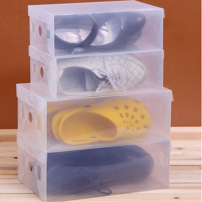 20 Pieces/ lot Clear Plastic Shoe Storage Transparent BoxesShoes Storage BoxDebris Storage BoxClamshell ShoeboxFree Shipping-in Storage Boxes u0026 Bins ... & 20 Pieces/ lot Clear Plastic Shoe Storage Transparent BoxesShoes ...