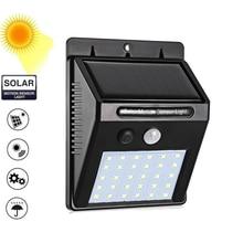 1-4Pcs 30/ LEDs Solar Light PIR Motion Sensor Garden Outdoor Lighting Energy Saving Street Yard Path Lamp Dropship