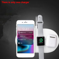 Portable 3 In 1 Wireless Charger Fast Qi Desktop Bedside Safe Station Accessory Travel Stable Watch Earphone Office For IPhone X
