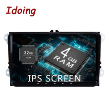"""Idoing 9 """"2Din автомобиля Радио Видео мультимедийный плеер Android 8,0 для vw skoda seat ips экран 4 г + 32 Восьмиядерный навигации gps ГЛОНАСС"""