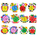 2017 Kids DIY Kids Animal Shape Learning Clock Puzzles Arts Crafts Kits Baby Toys FEB17_30