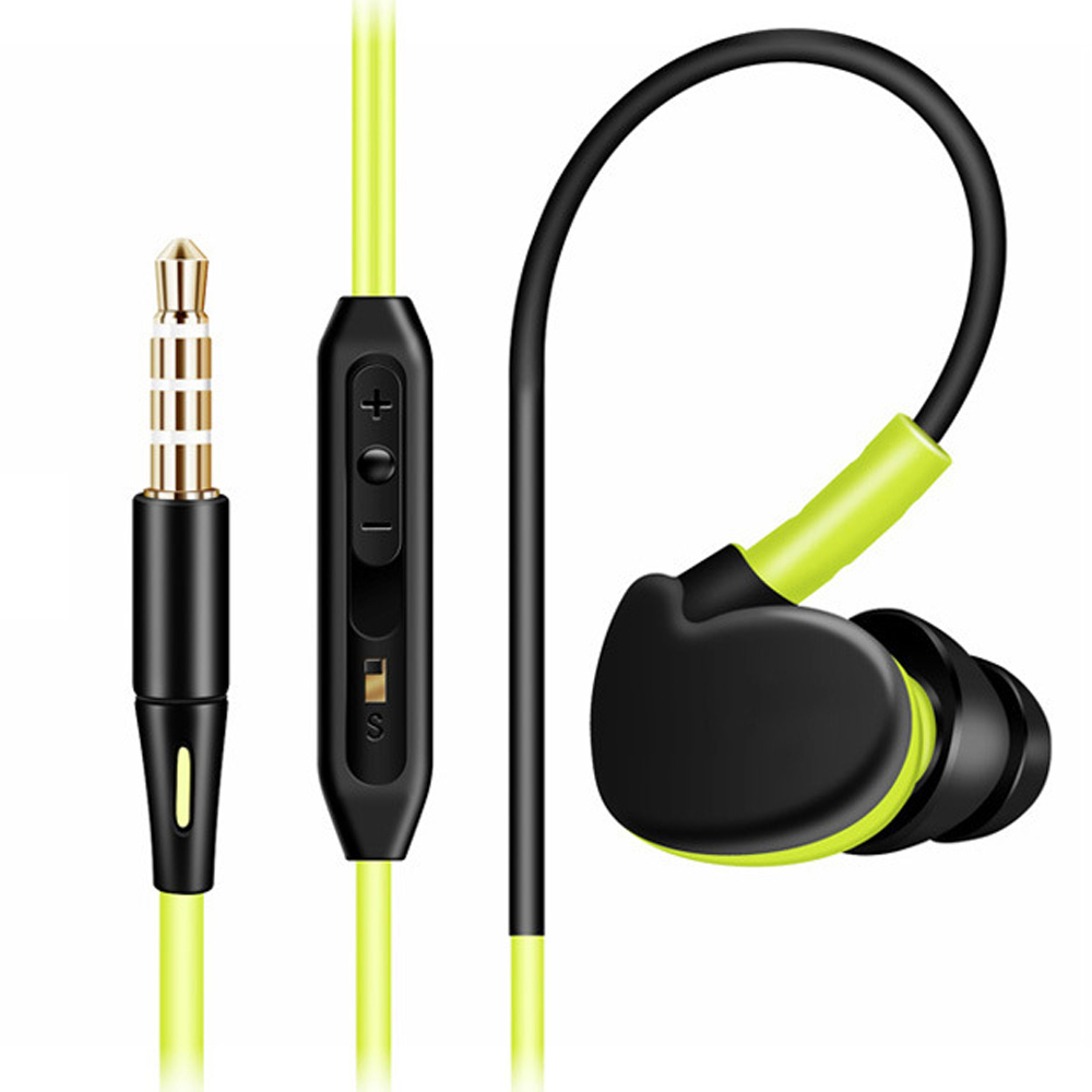 qijiagu200PCS Super Bass Earphone 3 5mm InEar Sport Running for Stereo Wired Headset With Mic Volume Control For Mobile computer in Phone Earphones Headphones from Consumer Electronics