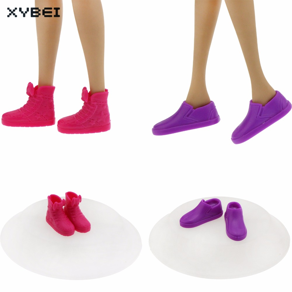 2 Pairs Fashion Sneakers Daily Casual Board Shoes Mixed Style Red Purple Flat Shoes For Barbie Kurhn Doll Accessories Kids Gift adidas samoa kids casual sneakers