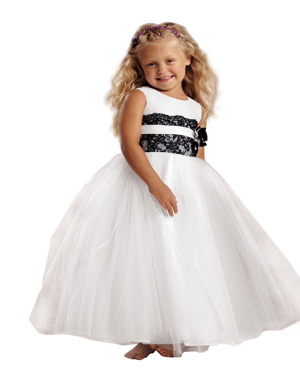ФОТО Elegant Princess Child Pageant Dream Dress Ankle-Length Baptism Vintage Holy Frock Tulle Little Girl Ball Gowns With Black Belt